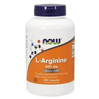 Аминокислоты NOW_L-Arginine 500 мг - 250 кап