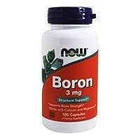 Витамины NOW_Boron 3 мг - 100 кап