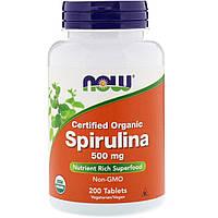 Спирулина NOW_Spirulina 500 мг - 200 таб