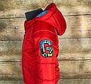 Детская демисезонная красная куртка на рост 110 - 116 см унисекс, фото 5