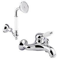 🇮🇹 Bianchi Elite VSCELT2004#01100CRM Смеситель для ванны с душ.комплектом (картридж - 40мм)