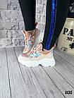 Женские кроссовки цвета пудра, эко кожа/эко замш, фото 2