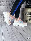 Женские кроссовки цвета пудра, эко кожа/эко замш, фото 3