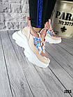 Женские кроссовки цвета пудра, эко кожа/эко замш, фото 5