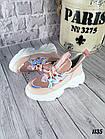 Женские кроссовки цвета пудра, эко кожа/эко замш, фото 7