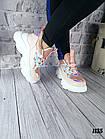 Женские кроссовки цвета пудра, эко кожа/эко замш, фото 8