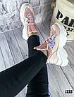 Женские кроссовки цвета пудра, эко кожа/эко замш, фото 9