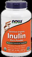 Пребиотики  NOW_Inulin Powder, Organic - 227 г