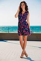 Платье Карина бабочки из ткани шифон