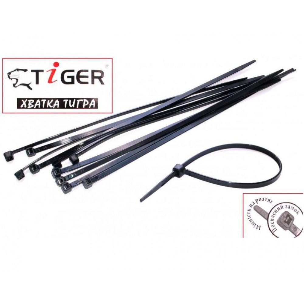 Стяжки Tiger 200мм (100шт) 2,5 мм черные