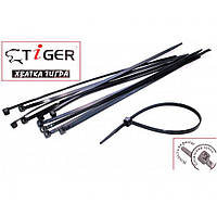 Стяжки Tiger 200мм (100шт) 2,5 мм черные, фото 1