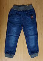 Темные джинсы с манжетами для мальчика