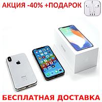 Мобильный телефон Apple iPhone X 256GB 5.8 дюйма качественная реплика + наушники iPhone 3.5