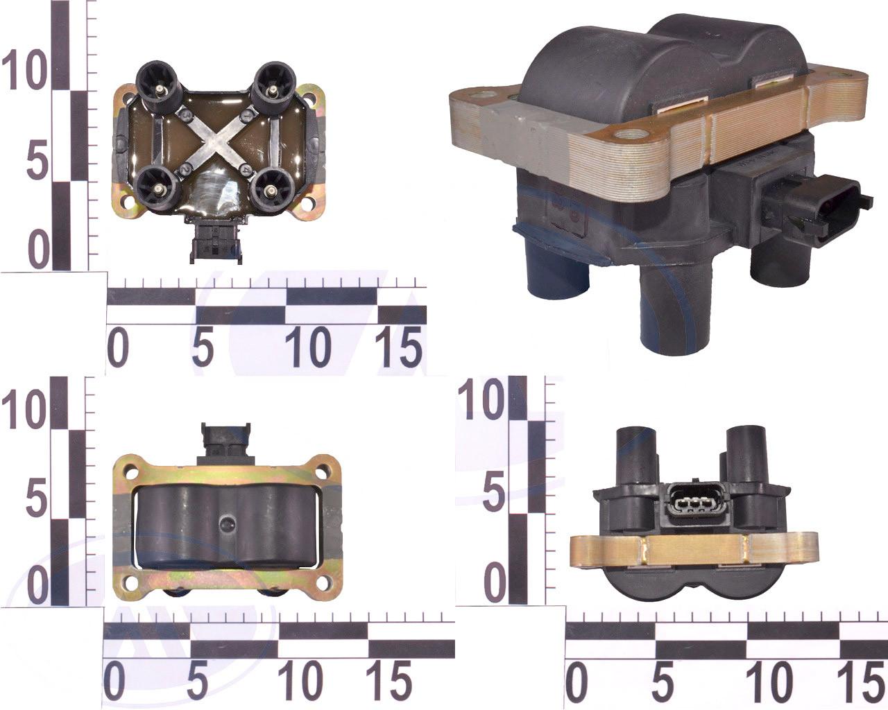 Катушка зажигания ВАЗ 2170, 2171, 2172 Приора инжектор дв 1,5 1,6-8-клап (46.01.3705). 21110-3705010-10 (МЗАТЭ-2)