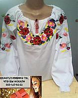 Детская блуза вышиванка для девочки 140
