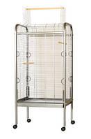 Вольер для попугаев OMEGA 2 Хром (прут 4) 56*71*146 см  Inter-Zoo