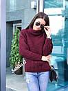 Женский свитер прямого кроя со спущенным плечом и большим высоким воротником 7sv569, фото 2