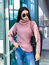 Женский свитер прямого кроя со спущенным плечом и большим высоким воротником 7sv569, фото 5