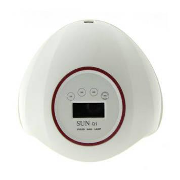 Лампа Led/uv 48W з дисплеєм, SUNQ1 біла з червоним, 24 діода з дисплеєм