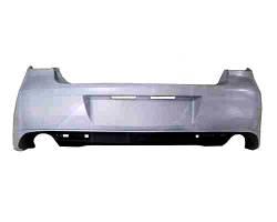 Бампер задний Mazda 6 08-10 два выхлопа без отверстий под парктроник (FPS)