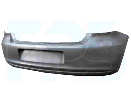 Бампер задній VW POLO V без отворів під парктроник (FPS). 6R0807417BHGRU