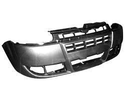 Бампер передний Fiat Doblo 05-09 черный (FPS). 735417815