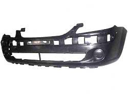Бампер передний Hyundai Getz 02- черный без отверстий под противотуманные фары (FPS). 865111C300