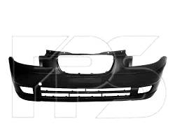 Бампер передний KIA Picanto 04-08 черный с отверстиями под противотуманные фары (FPS)