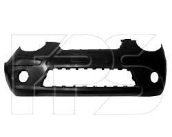 Бампер передний KIA Picanto 08-11 черный с отверстиями под противотуманные фары (FPS). 8651107500
