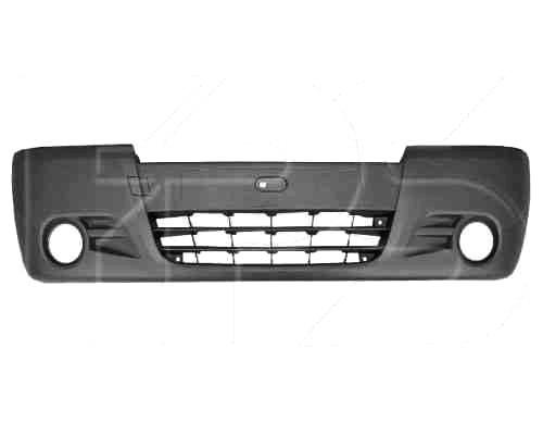 Бампер передний Renault Trafic, Opel Vivaro 02- с отверстиями под противотуманные фары (FPS). 4416743