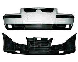 Бампер передний Samand EL/LX 06- в сборе (верхняя, нижняя часть, накладки, решетки (FPS). 08901014