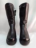 Комфортные зимние чёрные полусапожки,сапоги больших размеров Romax, фото 6