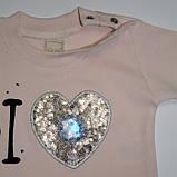 Костюм для дівчинки 6-12 місяців  I Love mom ... кремовий, фото 5