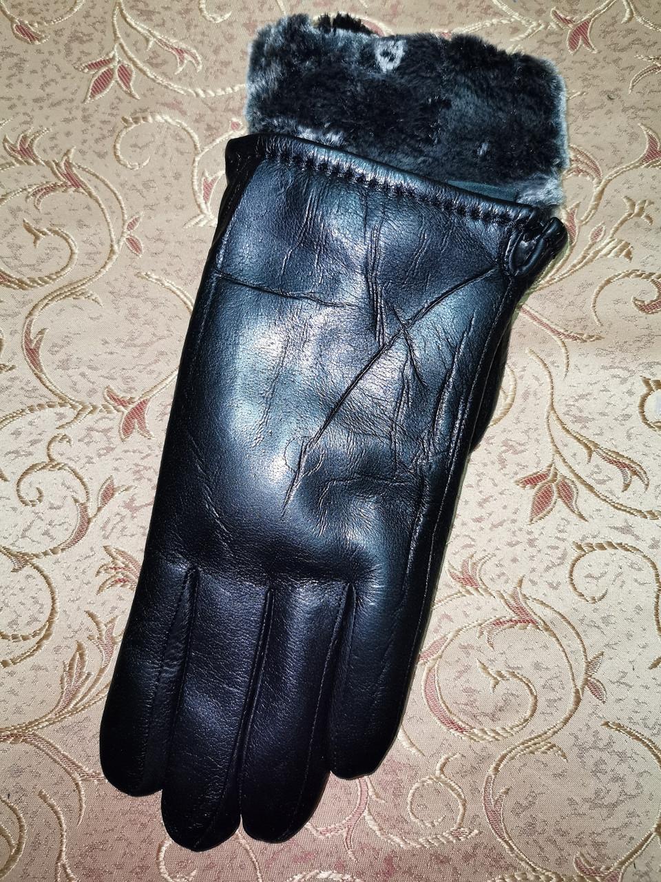 Кожа натуральная с мех мужские перчатки только оптом