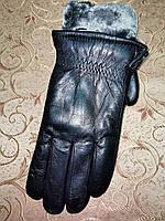 Кожа натуральная с мех мужские перчатки только оптом, фото 1