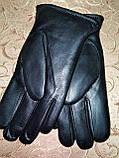 Кожа натуральная с мех мужские перчатки только оптом, фото 4