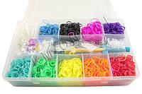Набор для плетения Rainbow Loom Bands 3000 резиночек
