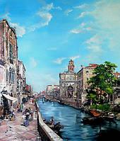 Копии картин маслом на холсте. Картина  Венеция.