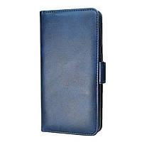 Чехол-книжка Leather Wallet для Huawei Y5 2019 Синий