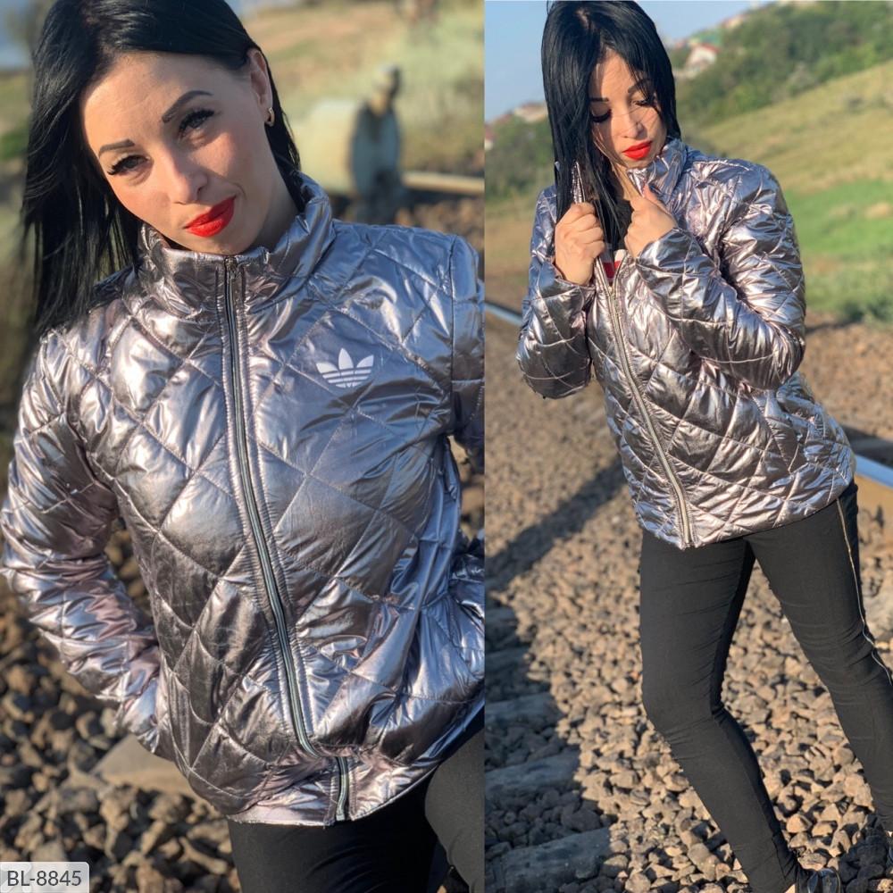 Женская модная куртка серебро