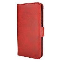 Чехол-книжка Leather Wallet для Huawei Y5 2019 Красный