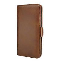 Чехол-книжка Leather Wallet для Huawei Y5 2019 Коричневый