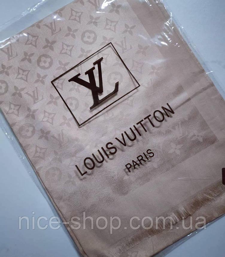 Палантин  Louis Vuitton бежевый, фото 2