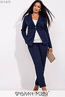 Женский брючный костюм с пиджаком в больших размерах 1uk224