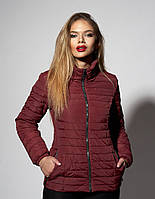 Модная женская куртка цвета марсала  (к-66)