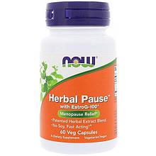 "Поддержка при менопаузе NOW Foods ""Herbal Pause With EstroG-100"" (60 капсул)"