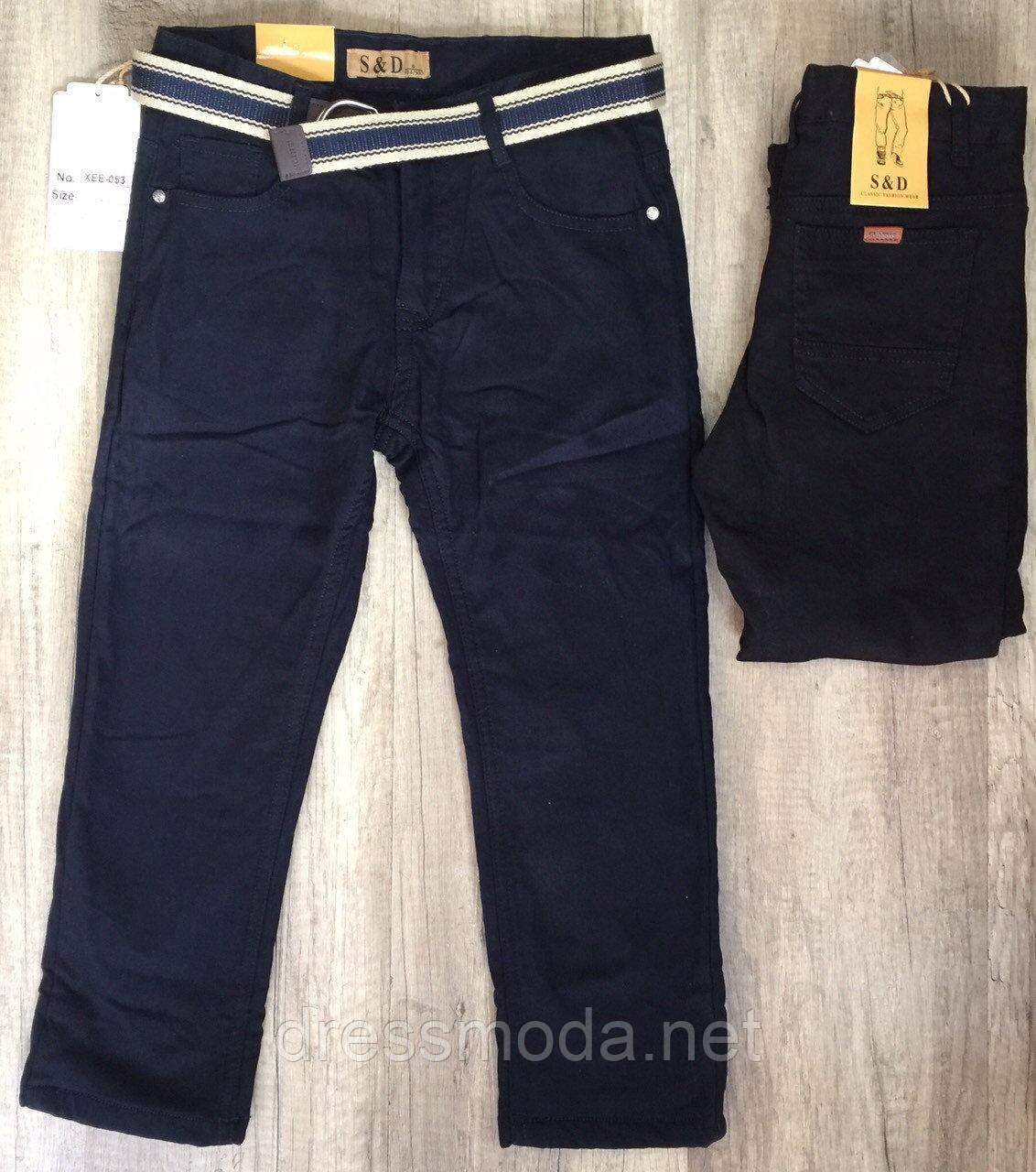 Котоновые брюки на флисе для мальчиков S&D 6-16 лет