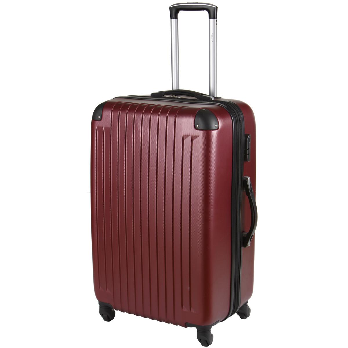 Чемодан Wallaby большой пластиковый  ABS  67(+6)х44х29(+3) цвет бордовый  в 6265-26бор