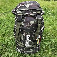 Рюкзак туристический для похода и рыбалки Daiwa 70 л камуфляж