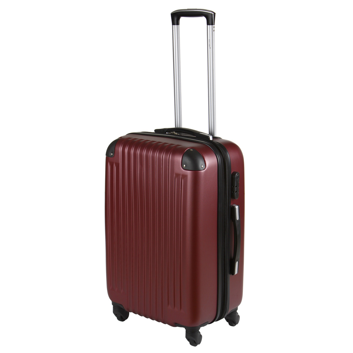 Чемодан Wallaby средний пластиковый  ABS  57(+6)х39х27(+3) цвет бордовый  в 6265-22бор
